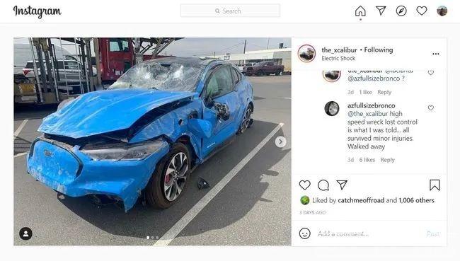 """福特Mach-E也""""失控""""?致全车损坏严重A柱却完好-1.jpg"""